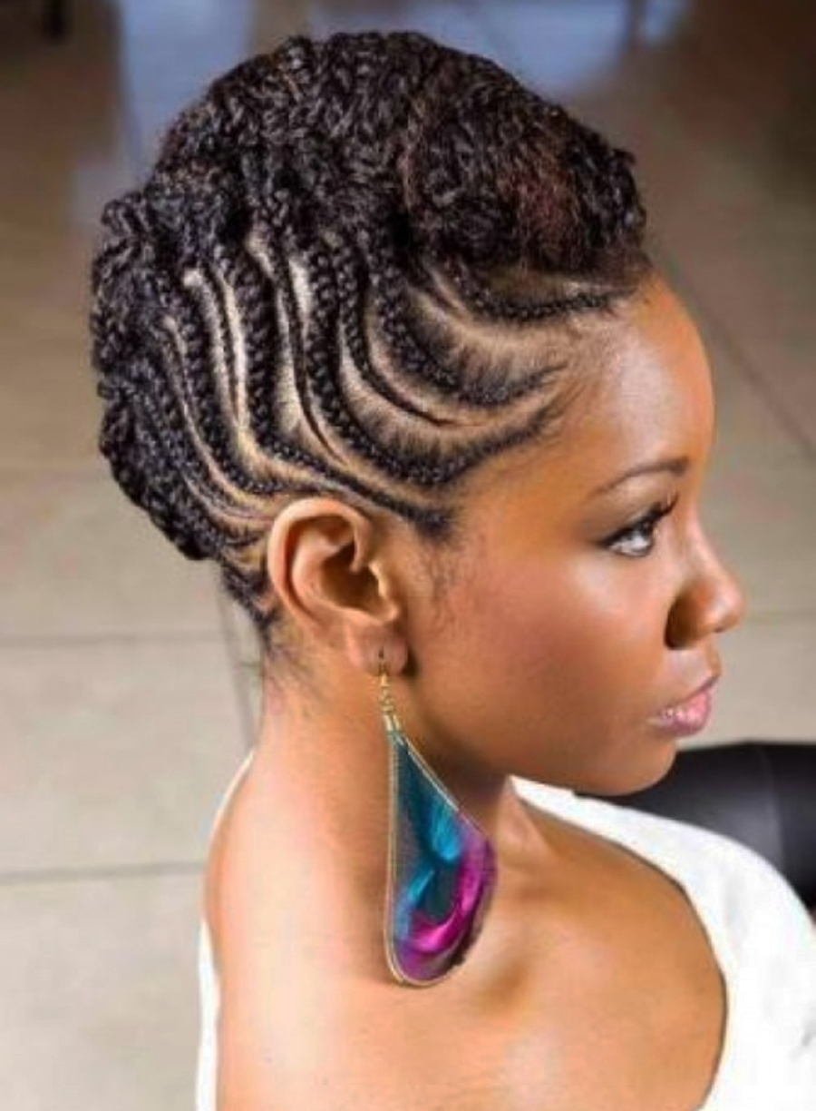 Best And Newest Chunky Mohawk Braid With Cornrows In Braided Hairstyles Mohawk (View 11 of 15)
