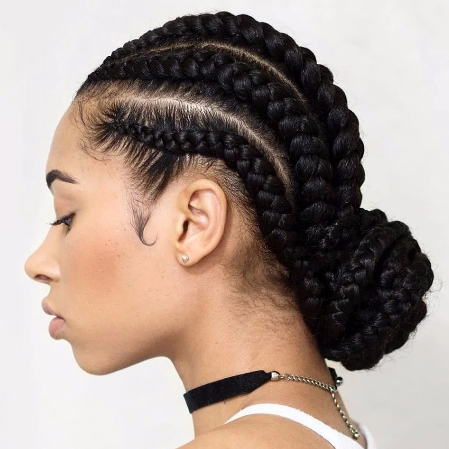 Best And Newest Chunky Mohawk Braid With Cornrows Intended For Easy Hairstyles For Braids (african Hair) ▷ Tuko.co (View 14 of 15)
