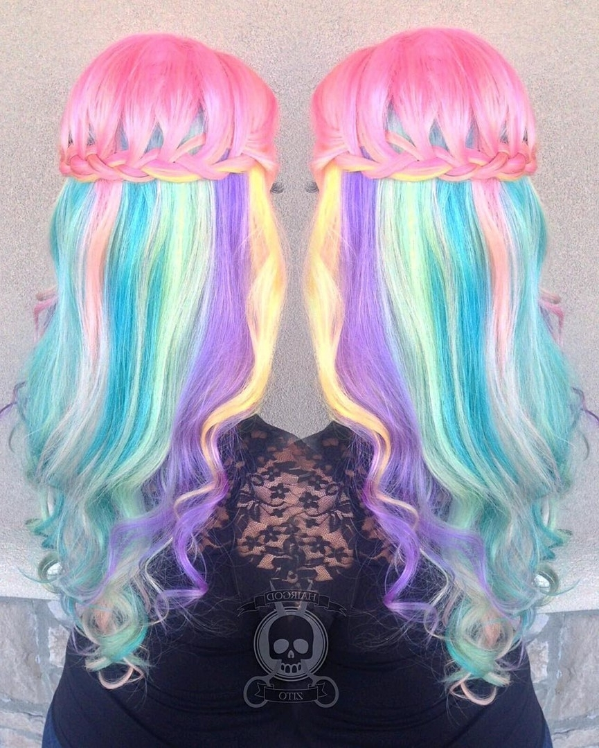 Best And Newest Cotton Candy Updo Hairstyles Within 20 Styles With Cotton Candy Hair That Are As Sweet As Can Be (View 2 of 15)