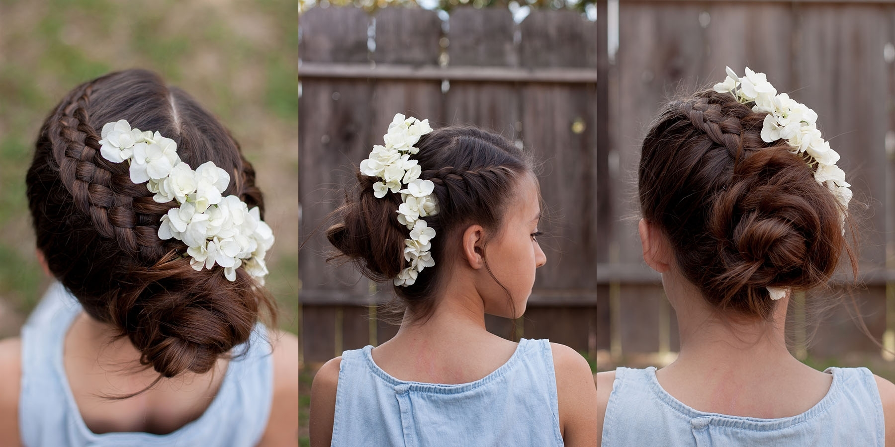 Best And Newest French Braids In Flower Buns Regarding Braids With Flowers (View 10 of 15)