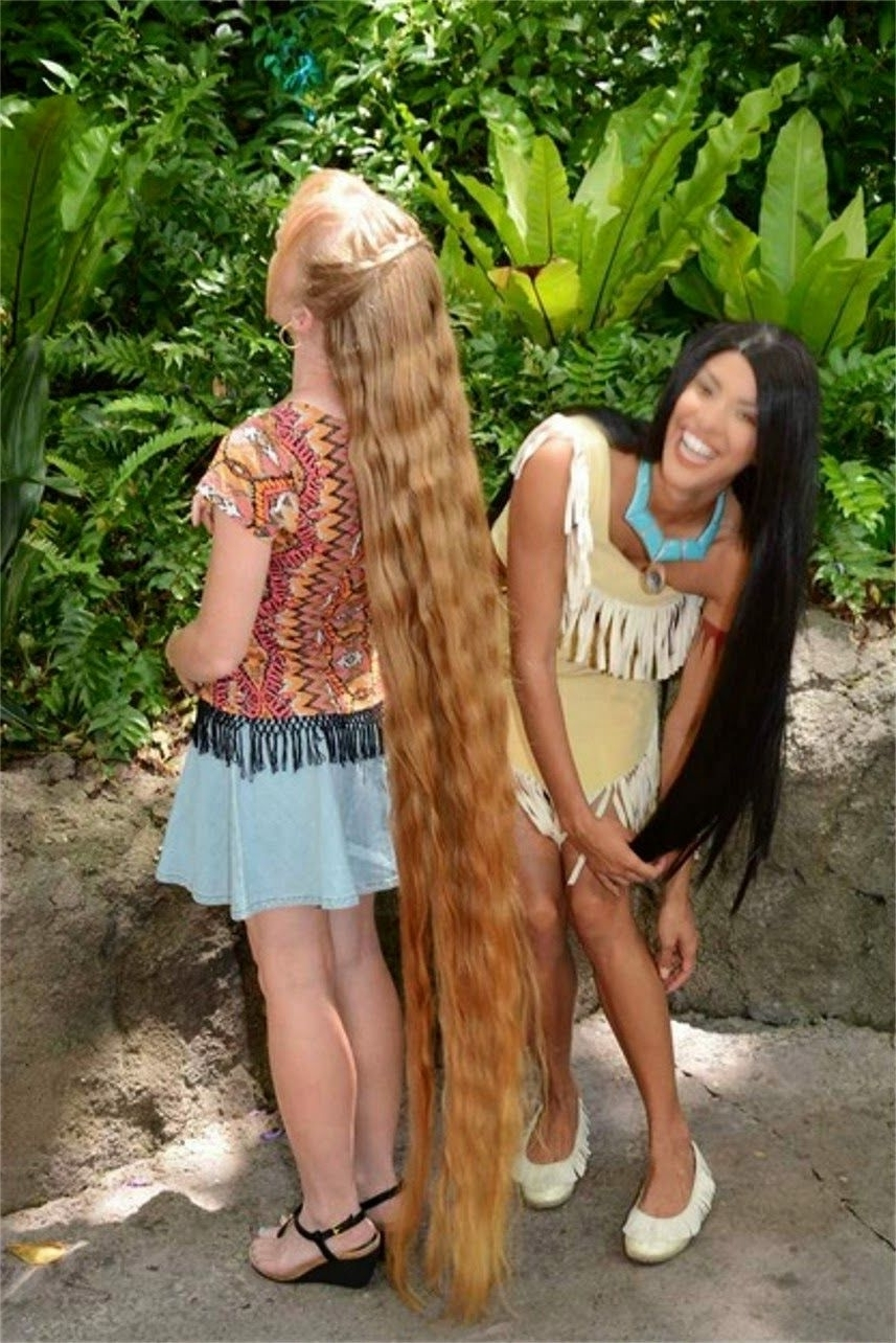 Best And Newest Pocahontas Braids Hairstyles Inside Braids & Hairstyles For Super Long Hair: Video: Meeting Pocahontas (View 2 of 15)