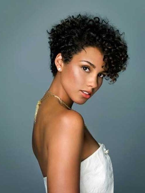 Best And Newest Short Black Hairstyles For Curly Hair Pertaining To Top 25 Short Curly Hairstyles For Black Women (View 4 of 15)