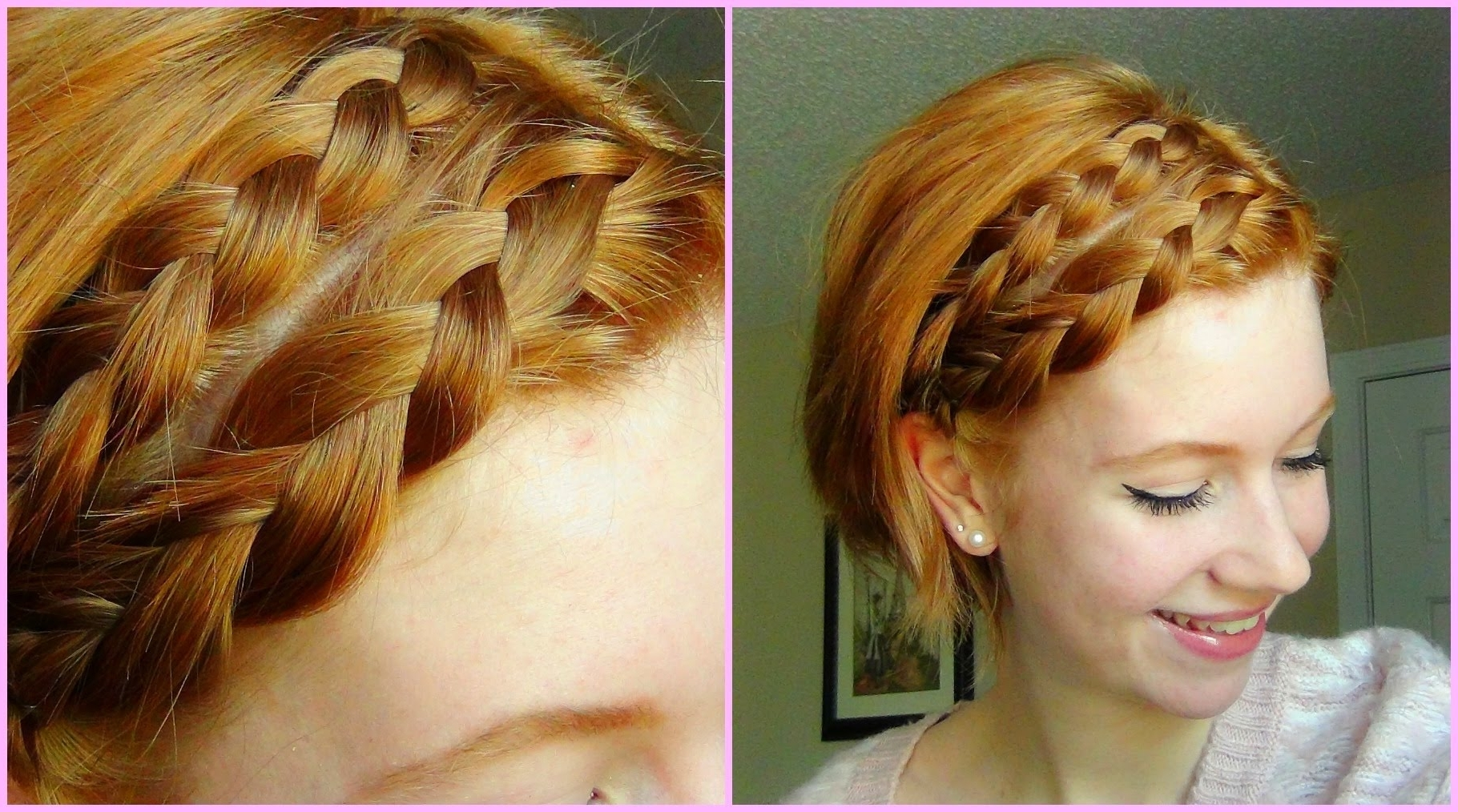 Best And Newest Short Braided Hairstyles Inside Double Dutch Braid Hair Tutorial! Short Hair ♥ – Youtube (View 5 of 15)