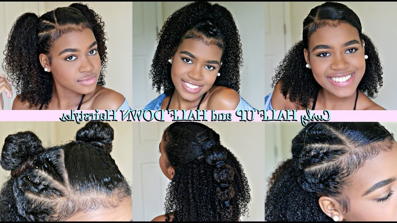 Best And Newest Super Long Dark Braids With Cuffs With Half Up Half Down Hairstyles For Natural And Curly Hair! – Youtube (View 9 of 15)