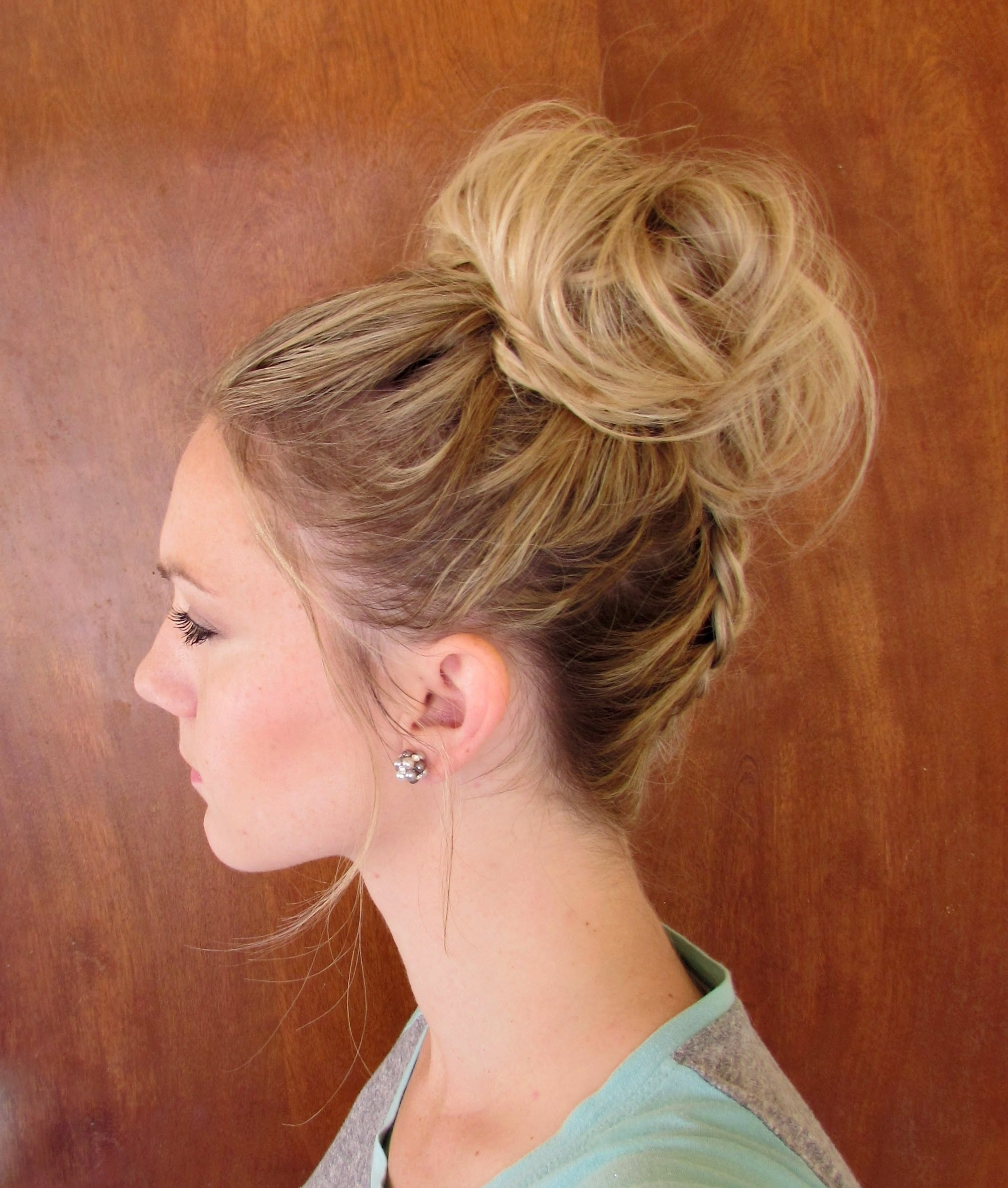 Best And Newest Upside Down Braids Into Messy Bun With How To: Upside Down Dutch Braid Into A Messy Bun – Youtube (View 2 of 15)
