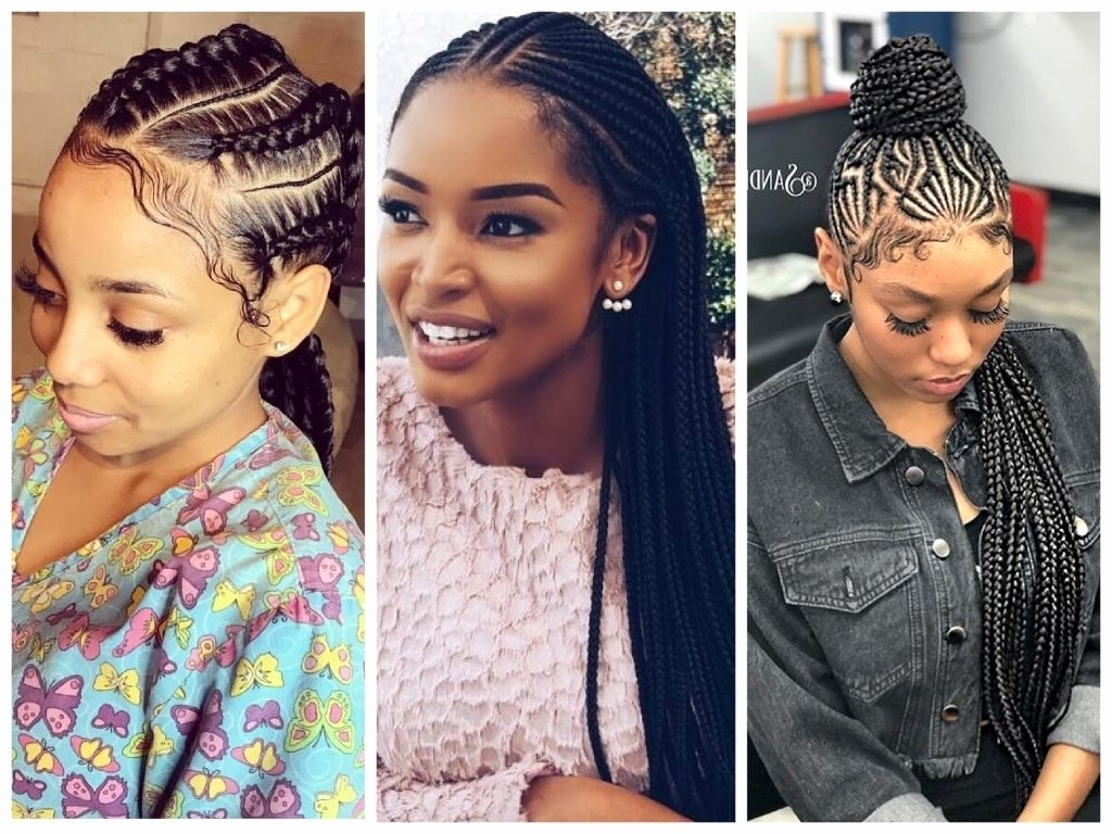 Best And Newest Zig Zag Cornrows Hairstyles Intended For Cute Cornrow Hairstyles – Leymatson (View 2 of 15)