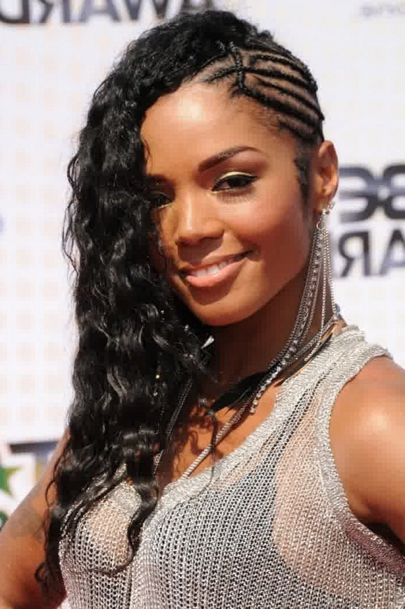 Best Cornrow Hairstyles In Trends Inspiring Half For Women Braided For Recent Half Cornrow Hairstyles (View 4 of 15)