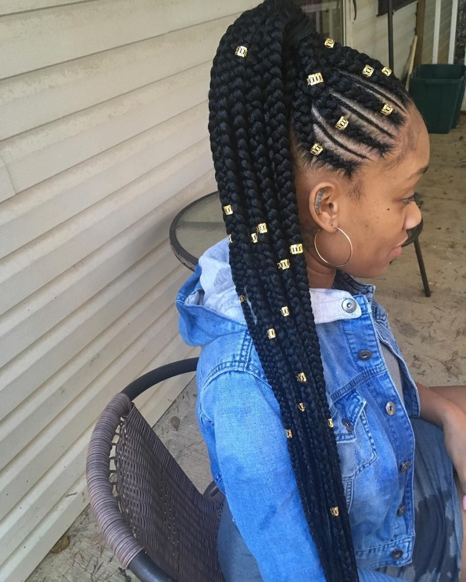 Best Hairstyles And Haircuts For With Widely Used Cornrows Hairstyles Without Weave (View 3 of 15)