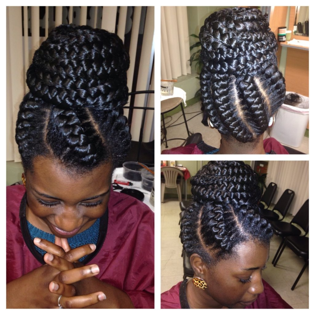 Big Cornrow Braids In A Buns Styles Simple Of Cornrows And Braids In Most Recent Big Updo Cornrows Hairstyles (View 7 of 15)