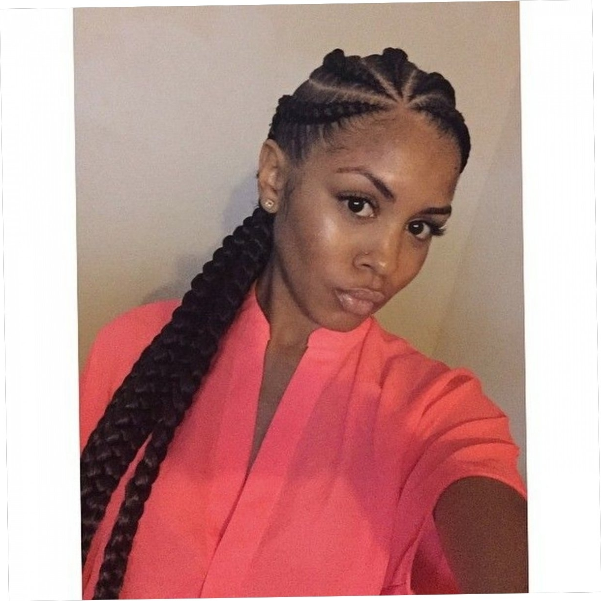 Big Cornrow Intended For 2018 Big Cornrows Hairstyles (View 5 of 15)