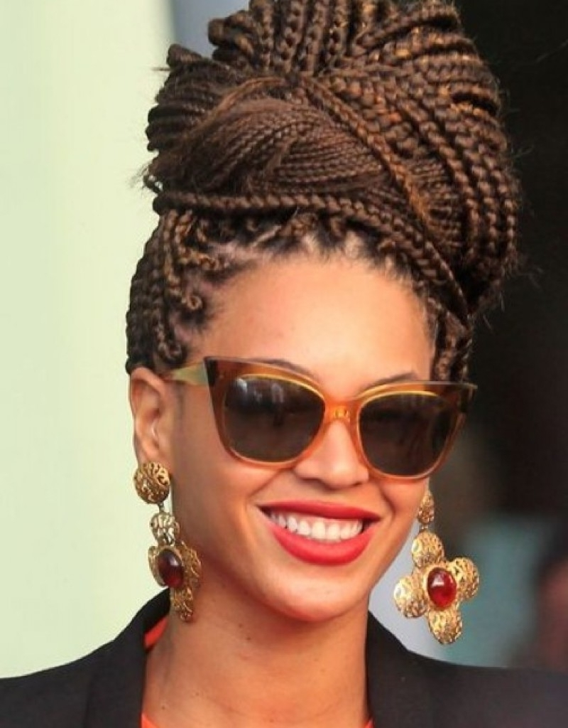 Black Braided Updos Hairstyles Updo Hairstyles For Black Women With Regard To Preferred Long Chunky Black Braids Hairstyles (View 8 of 15)