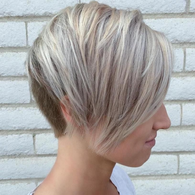 Blonde Pixie Regarding Recent Ash Blonde Pixie With Nape Undercut (View 6 of 15)