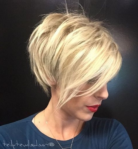 "Blonde Pixie With Edge"" (View 6 of 15)"