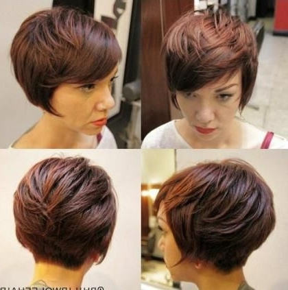 Blonde, Red, Brown, Ombre Ed And Highlighted Pixie Cuts For Any Throughout Newest Reddish Brown Layered Pixie Bob Haircuts (View 3 of 15)