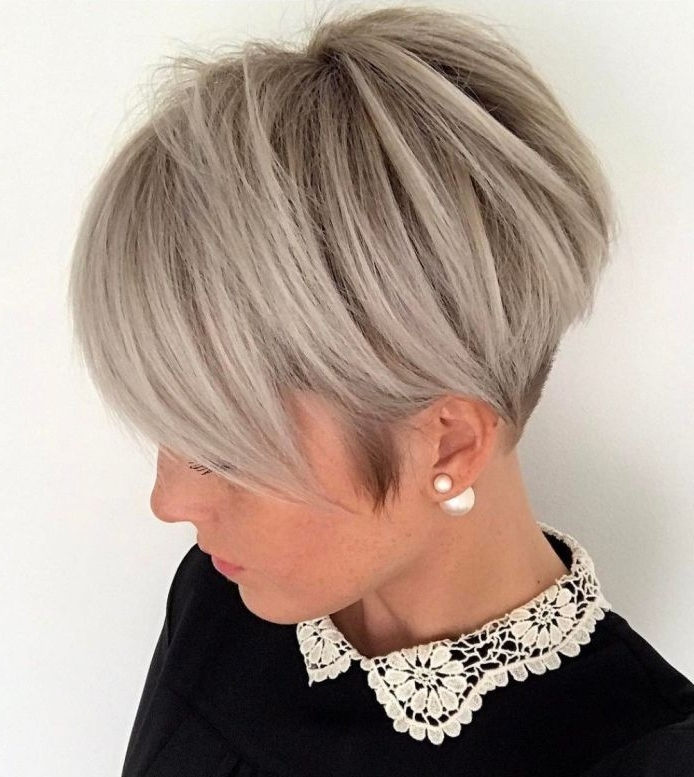 Featured Photo of Ash Blonde Pixie With Nape Undercut