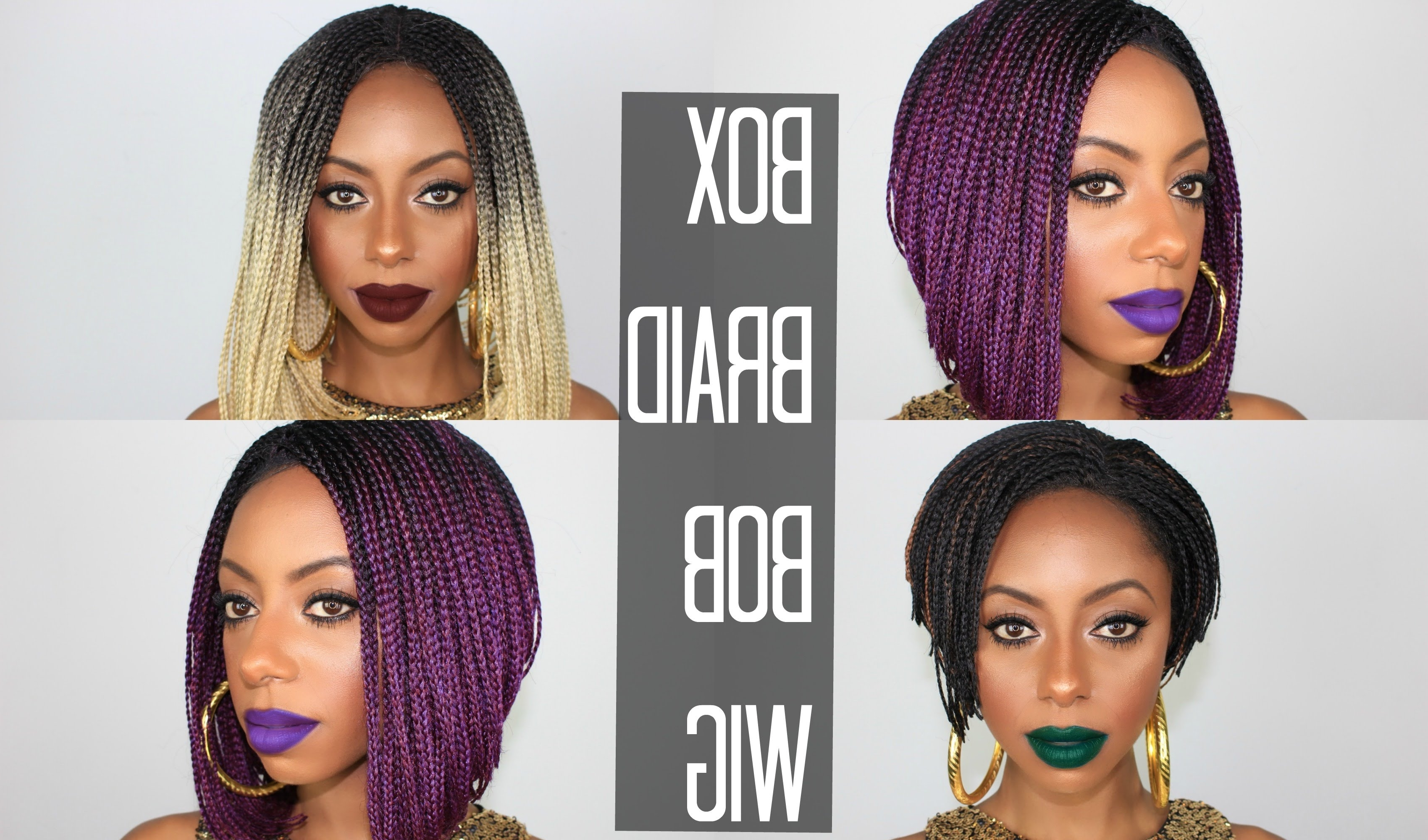 Bob Archives > Page 6 Of 7 > Braided Hairstyles Gallery 2018 Regarding Popular Chic Braided Bob Hairstyles (View 15 of 15)