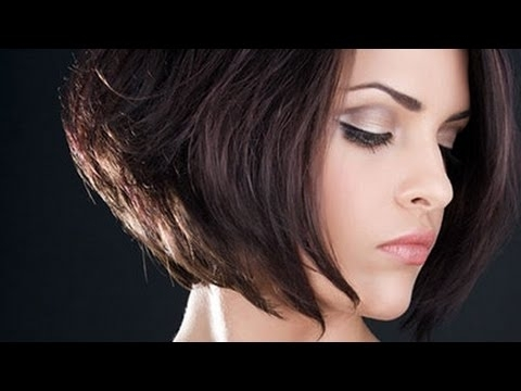 Bob Haircut Short Nape / Short Inverted Bob Haircut – Youtube Within 2017 Stacked Pixie Haircuts With V Cut Nape (View 15 of 15)