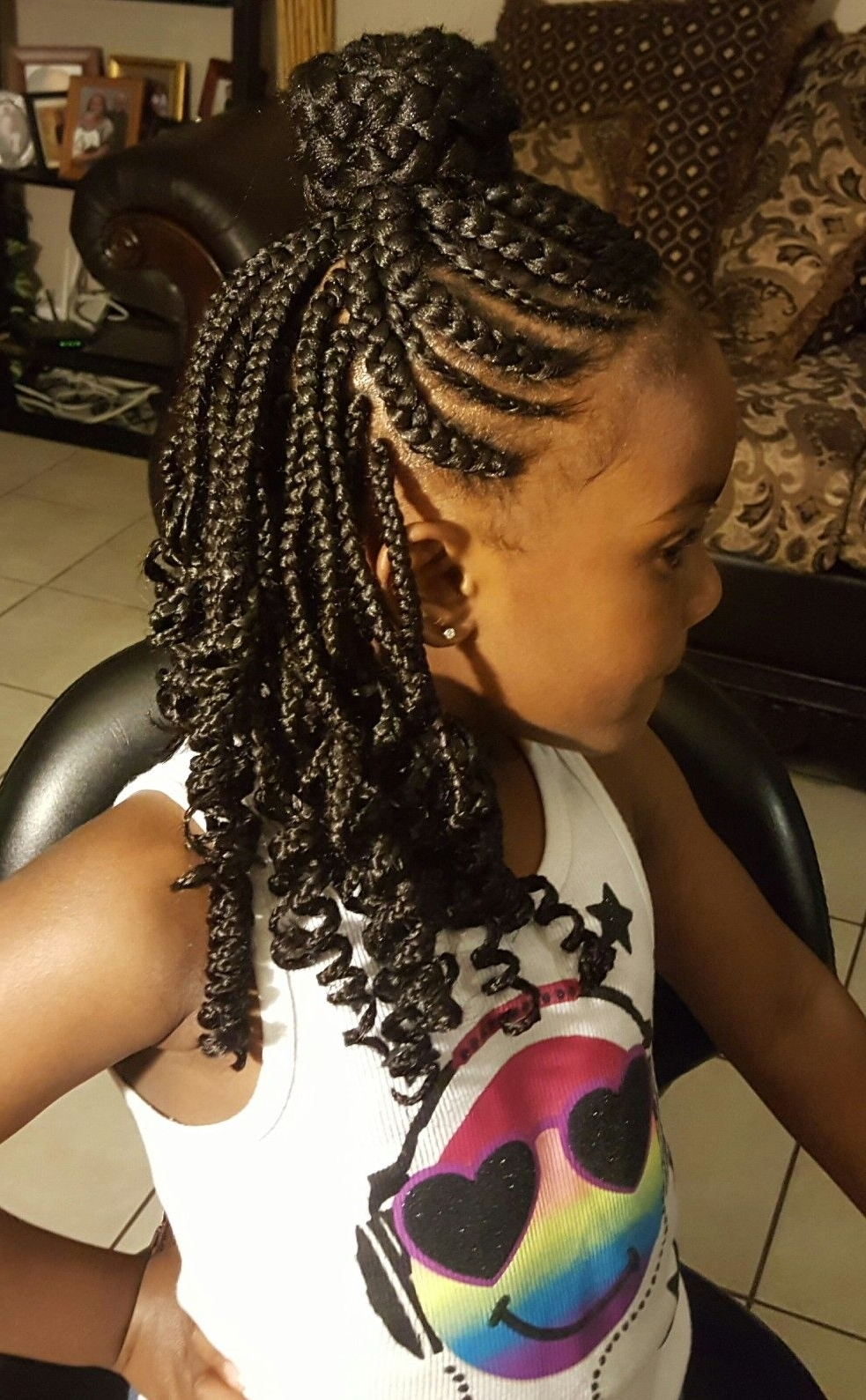 Box Braids Hairstyles Inside Well Liked Classic Fulani Braids With Massive Ivory Beads (View 6 of 15)