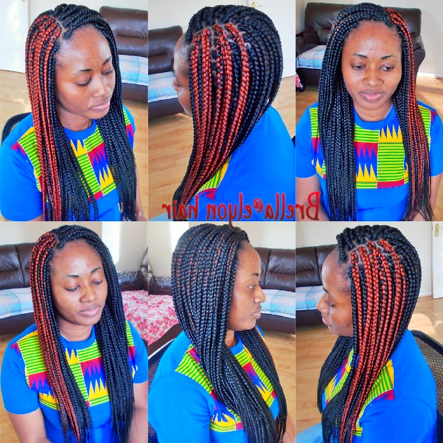 Box Braids With Regard To Widely Used Cornrows Hairstyles With Color (View 9 of 15)