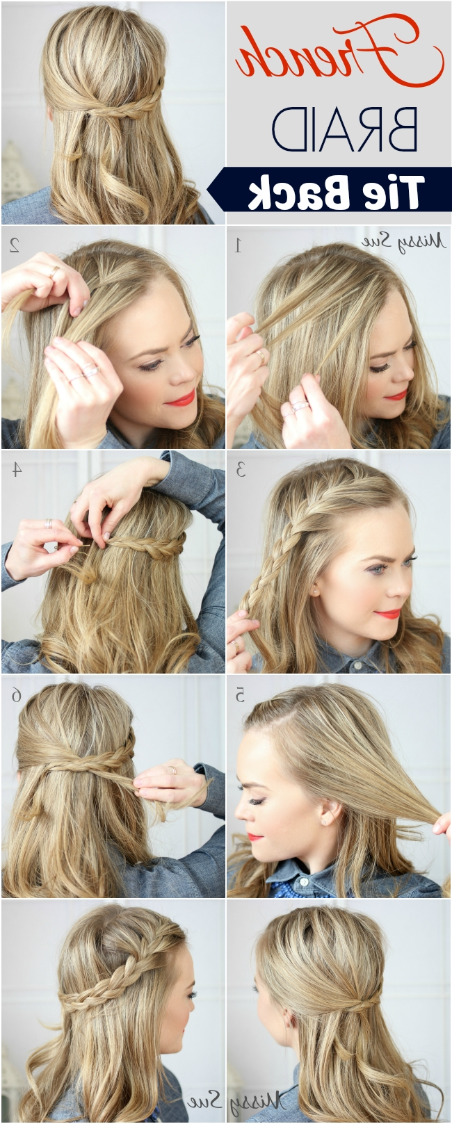 Braid 17 French Braid Tie Back Regarding Widely Used French Braid Pull Back Hairstyles (View 11 of 15)