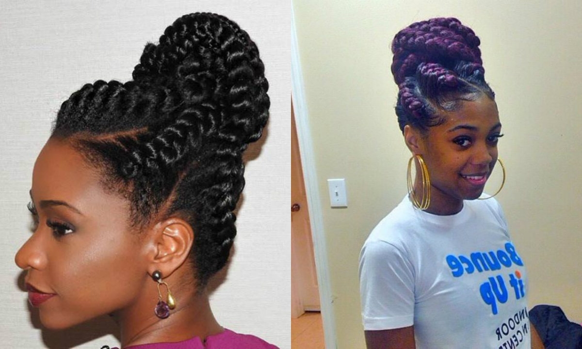 Braid Bun Hairstyles For Black Women – Hairstyles Inspiring For Favorite Black Braided Bun Updo (View 2 of 15)
