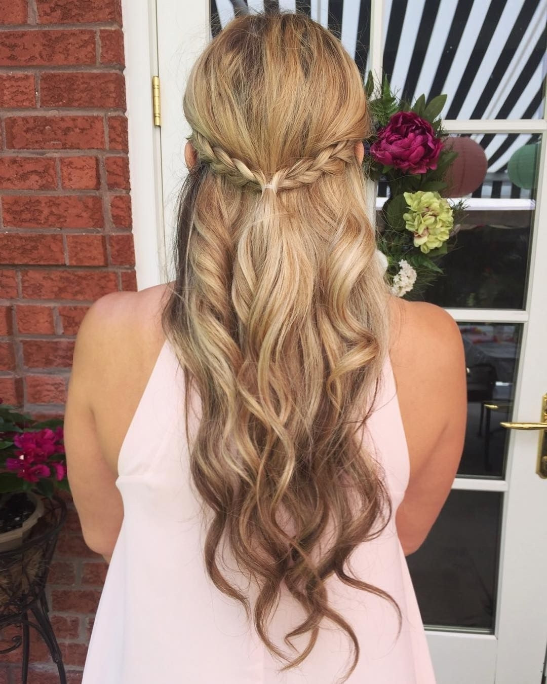 Braid Crown, Boho Hair, Loose Curls, Blonde Hair, Beach Waves Inside Most Up To Date Braided Crown With Loose Curls (View 4 of 15)