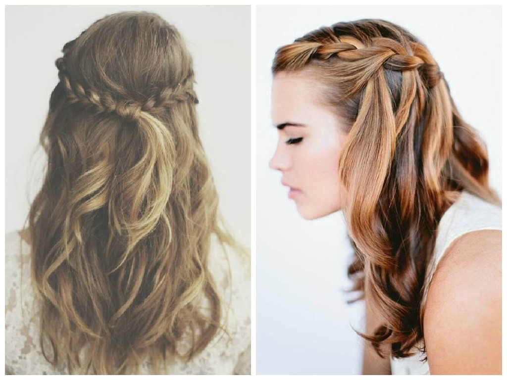Braid Hairstyle With Hair Down The Best Crown Braid Hairstyle Ideas In Fashionable Braided Hairstyles With Hair Down (View 2 of 15)
