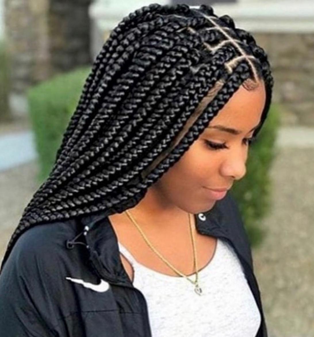 Braid Hairstyles 2018 – 40 Ghana Braid, Box Braid, Goddess Braid In Fashionable Medium Cornrows Hairstyles (View 14 of 15)