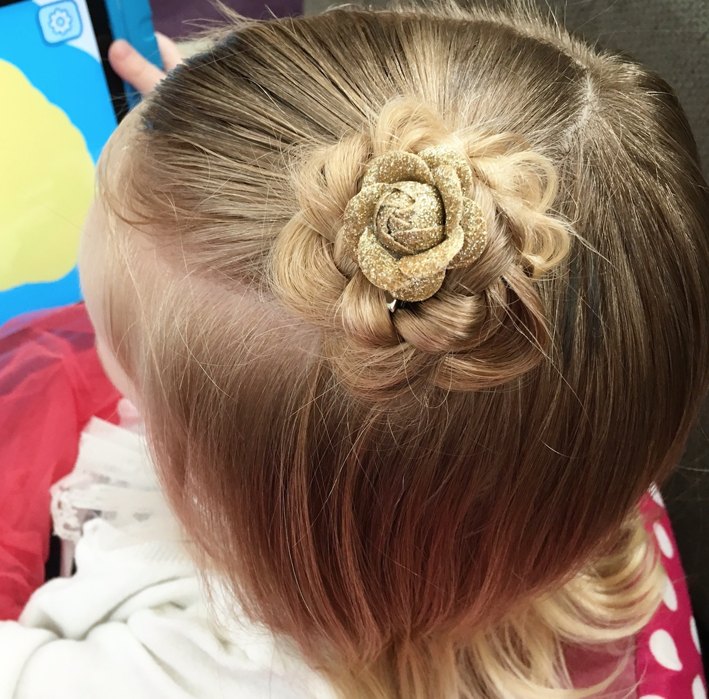 Braided Flower Bun – Easy Toddler Hairstyles For Latest French Braids In Flower Buns (View 9 of 15)