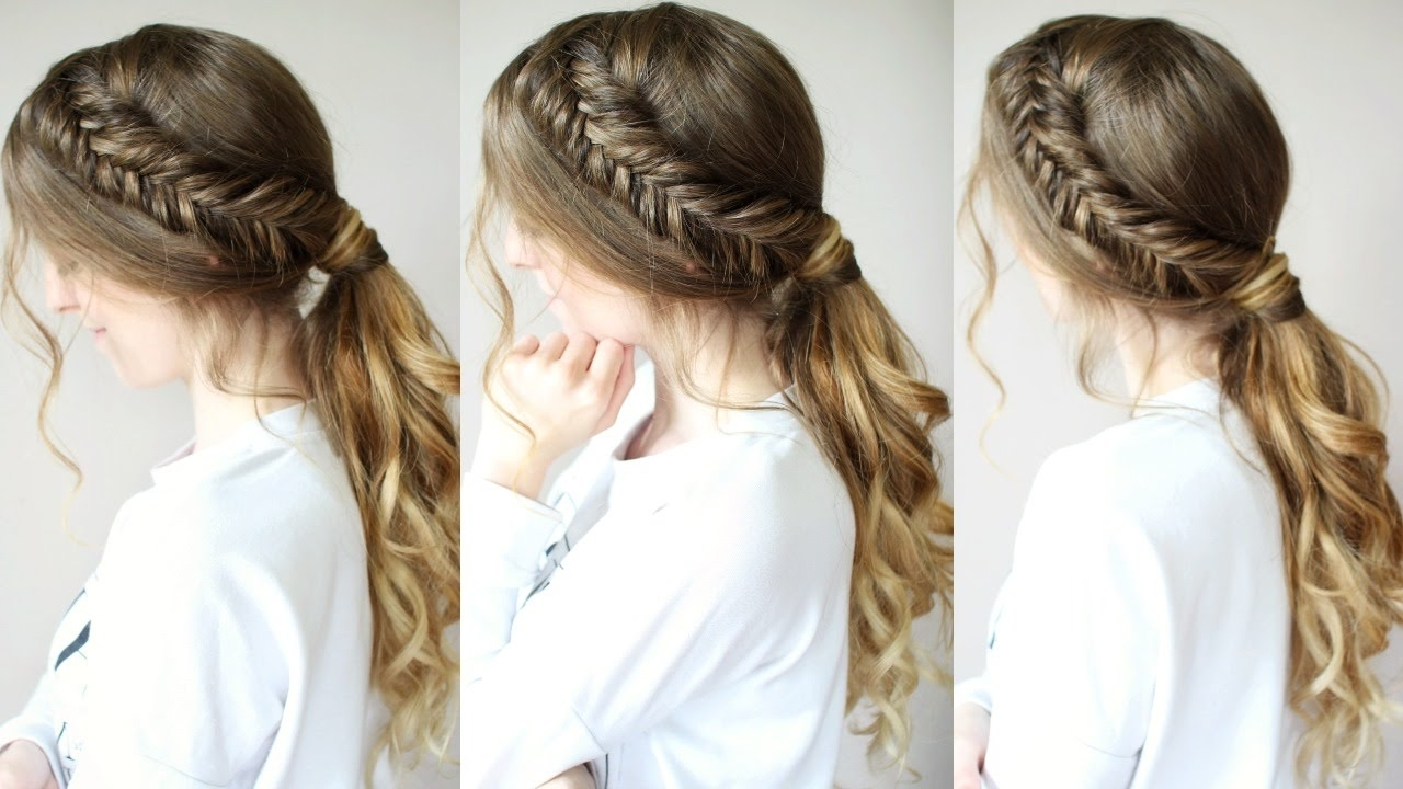 Featured Photo of Braided Hairstyles With Ponytail
