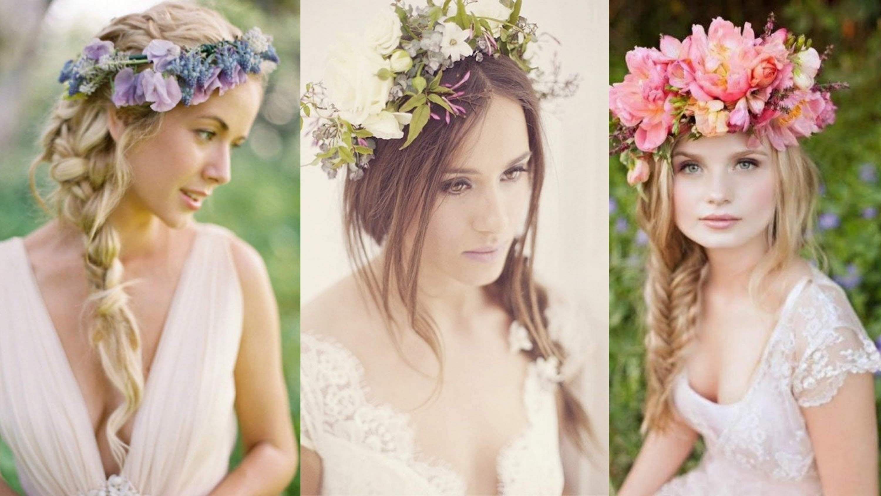 Braided Wedding Hairstyles With Flowers – Youtube Regarding Well Known Braids And Flowers Hairstyles (View 11 of 15)