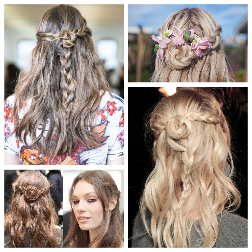 Braiding: The Half Up Flower Braid Regarding Most Current Braids And Flowers Hairstyles (View 10 of 15)