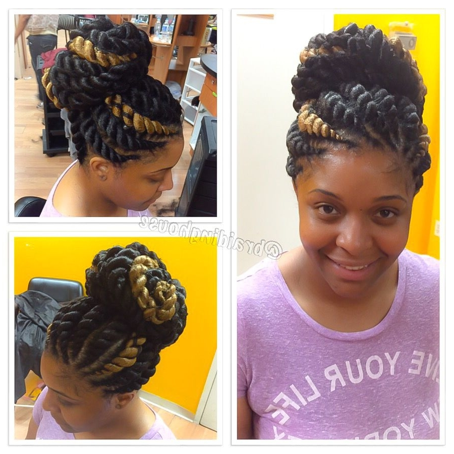 Braids: African For Most Recently Released Jumbo Double Twisted Updo (View 6 of 15)