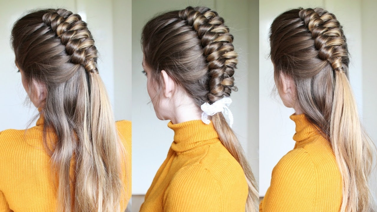 Braids Hairstyles Regarding Newest Half Up And Braided Hairstyles (View 6 of 15)