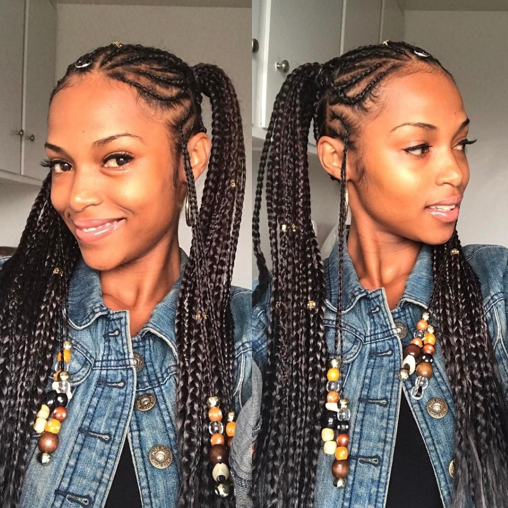 Braids With Beads Inspiration – Essence With Regard To Preferred Cornrows Hairstyles With Beads (View 9 of 15)