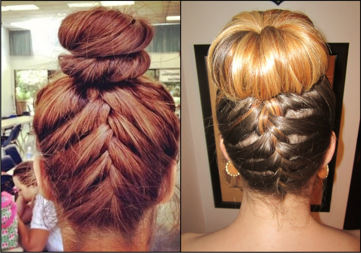 Bun Archives > Page 12 Of 30 > Braided Hairstyles Gallery 2018 Regarding Recent Bun And Braid Hairstyles (View 9 of 15)