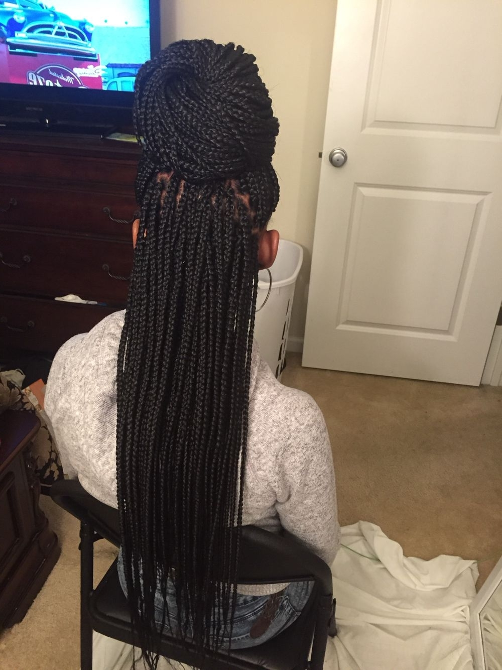 Buy Two Get One Free !!! Perfect Braiding Hair,unprocessed Virgin Throughout Most Recent Two Extra Long Braids (View 2 of 15)