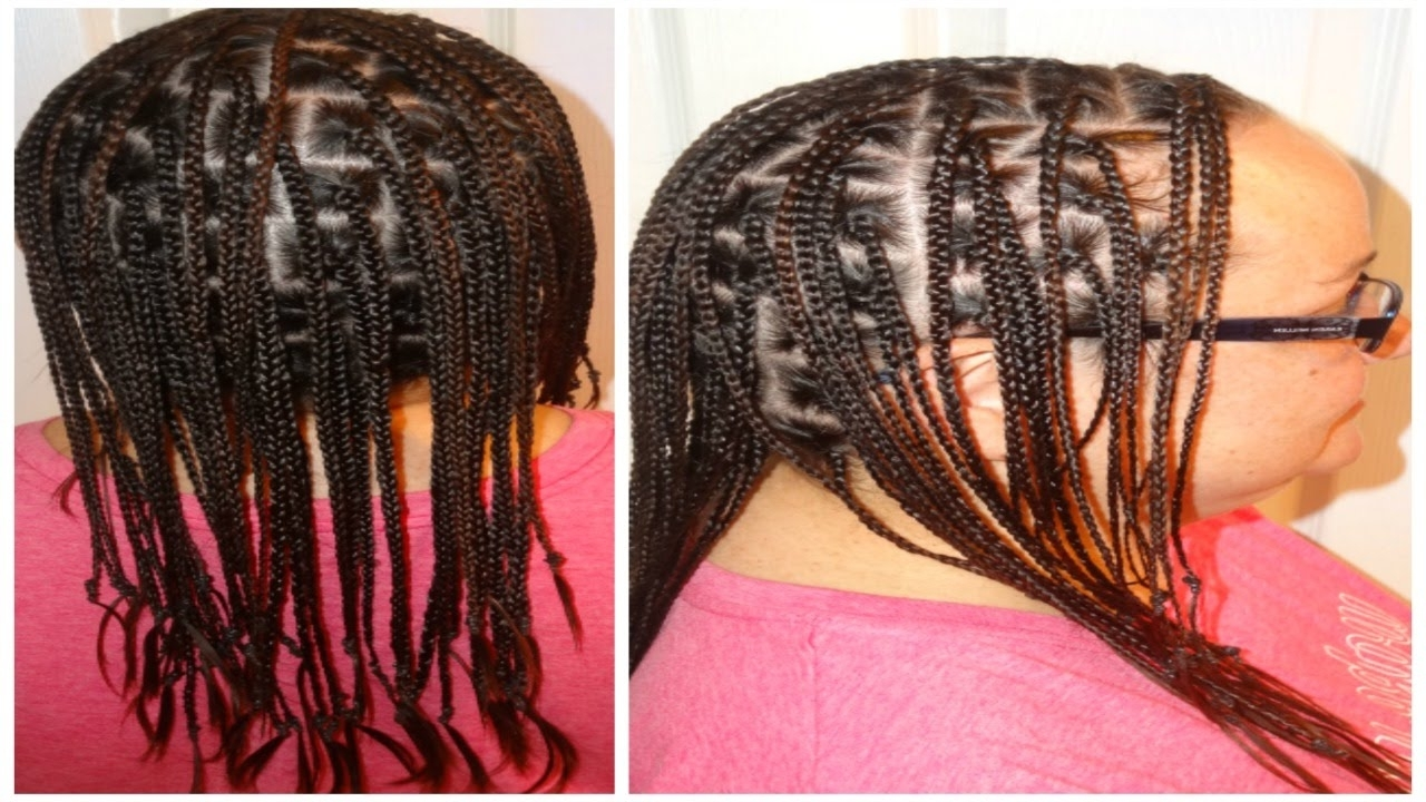 Caucasian Box Braids With No Extensions – Youtube In Recent Cornrows Hairstyles Without Extensions (View 10 of 15)