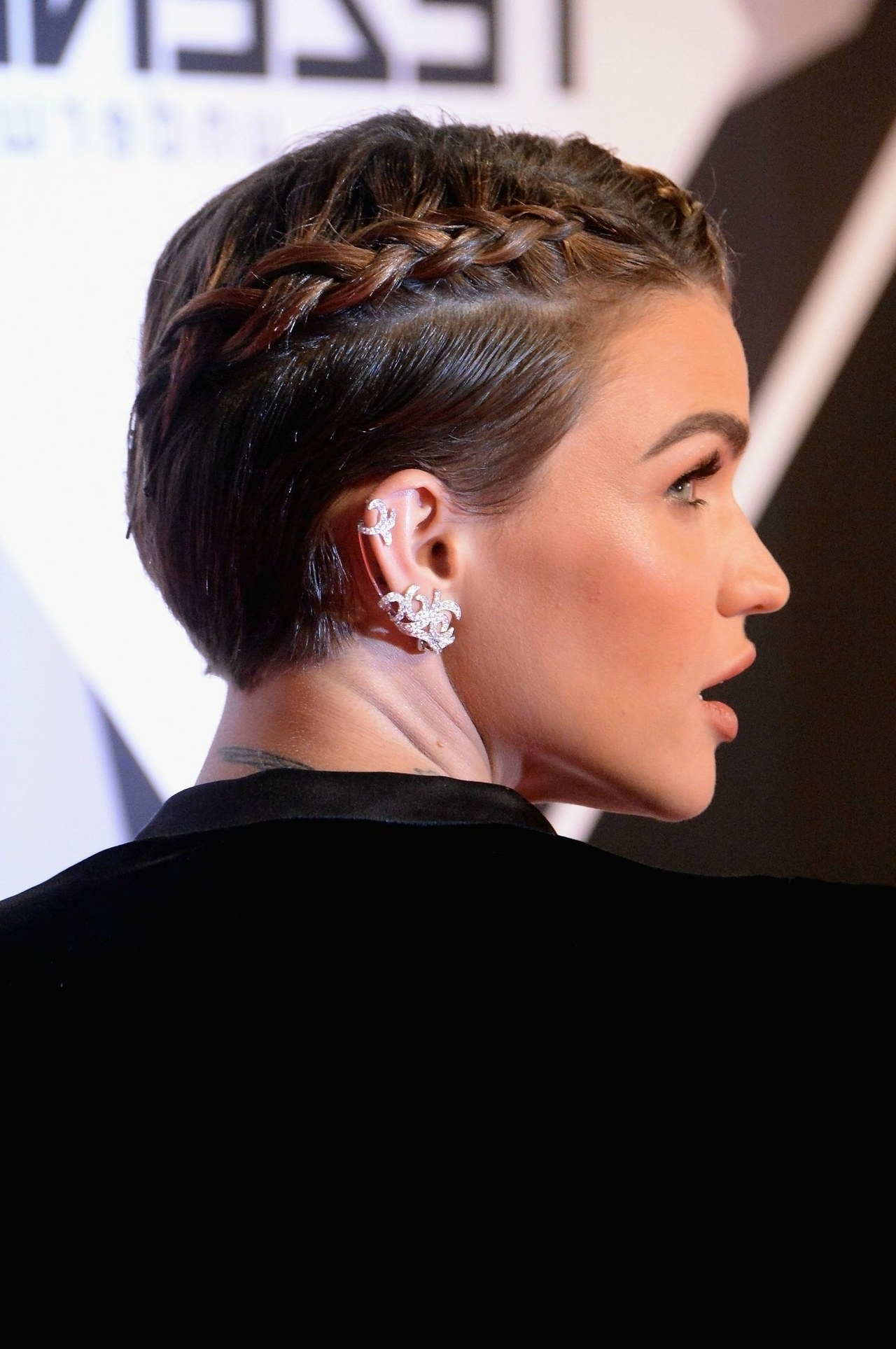 Celebrity Braided Hairstyle Inspiration: The Best Edgy Braids Of Inside Current Sculptural Punky Ponytail Braids (View 13 of 15)