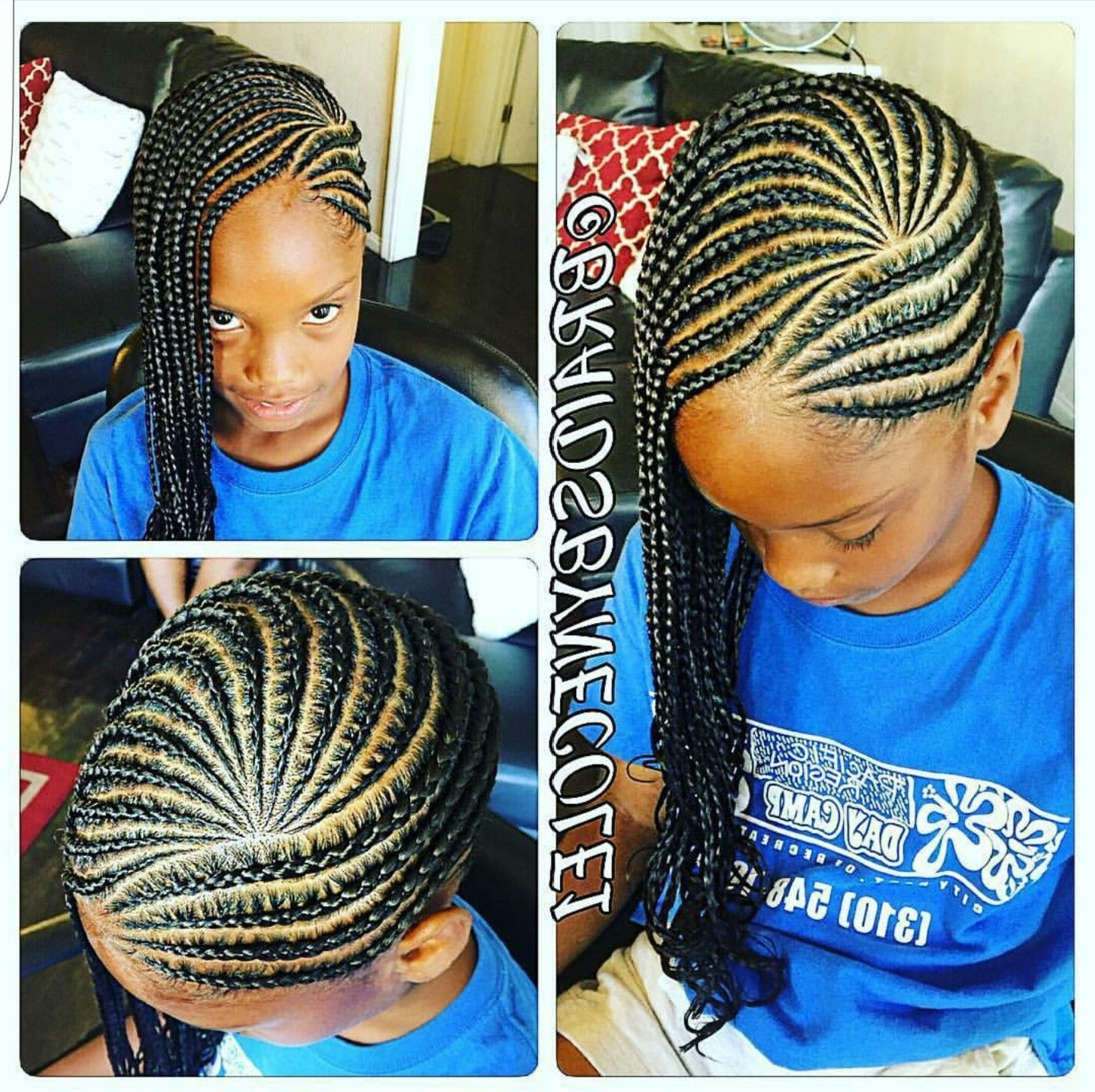 Children's Cornrows (View 4 of 15)