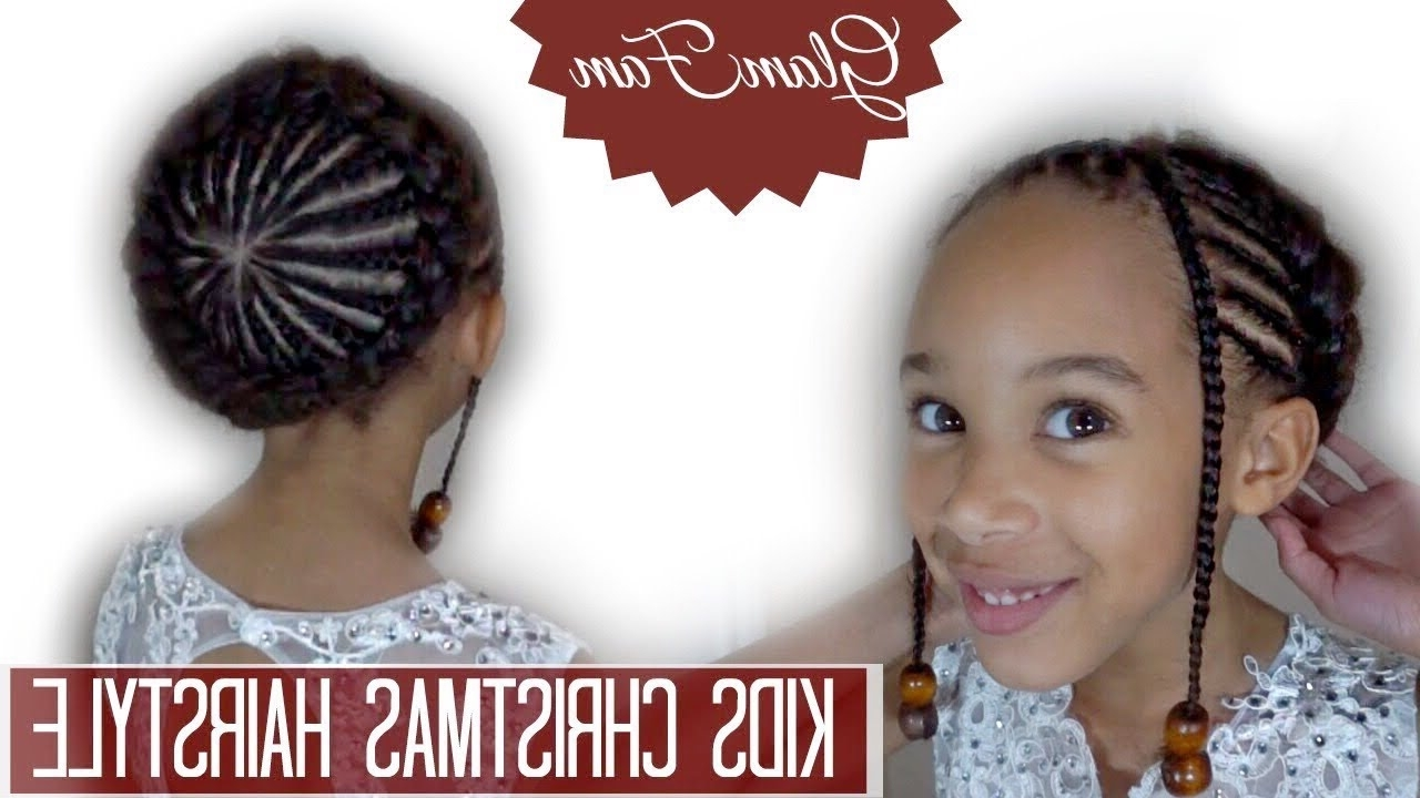 Christmas Hairstyle – Youtube Pertaining To Most Current Braided Glam Hairstyles (View 10 of 15)