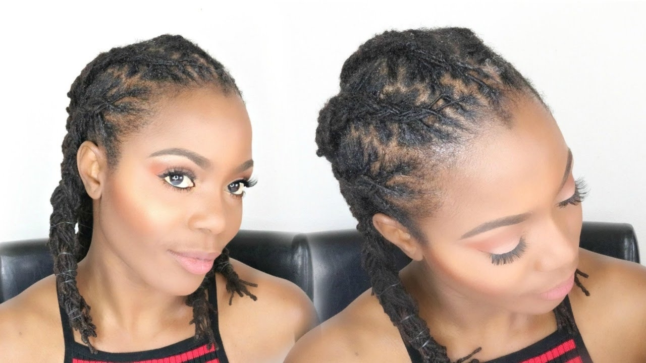 Corn Row Braids For Medium Length Locs: Loc Tutorial/jungle Barbie Intended For Current Medium Cornrows Hairstyles (View 4 of 15)