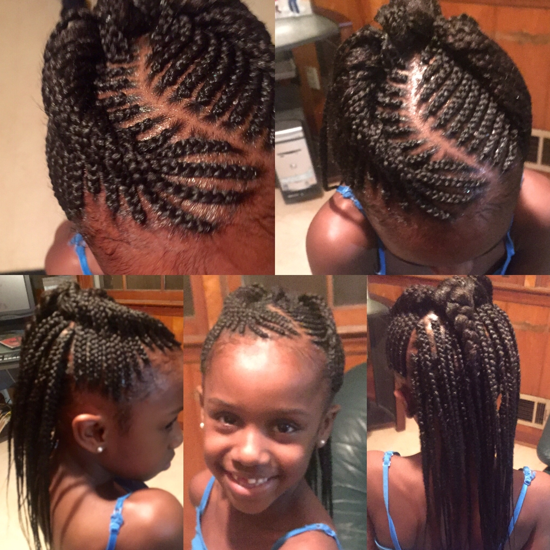 Cornrow Braid Hairstyles For Kids Amusing Hairstyles For Kids Braids Within Fashionable Cornrows Hairstyles With Own Hair (View 4 of 15)