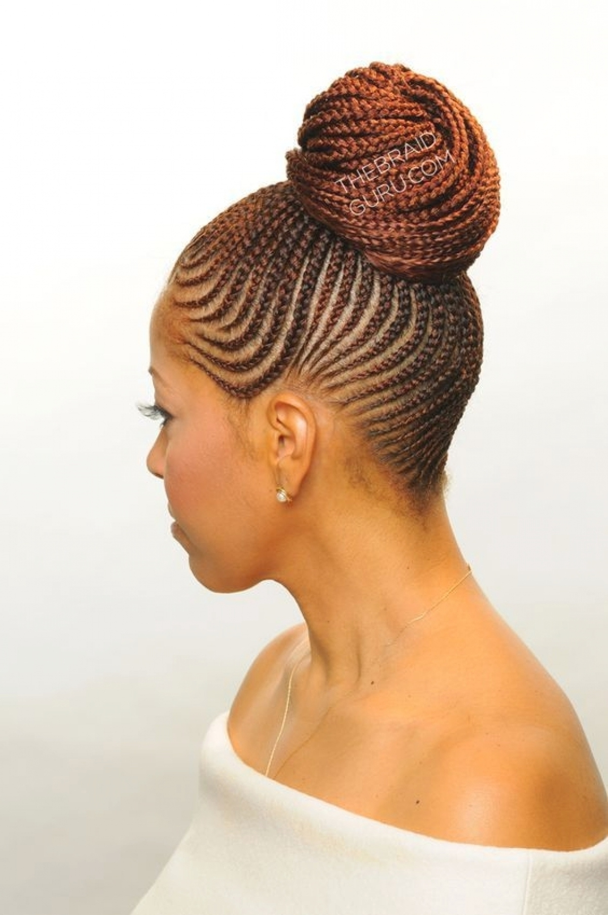 Cornrow Braided Bun Hairstyles (View 4 of 15)