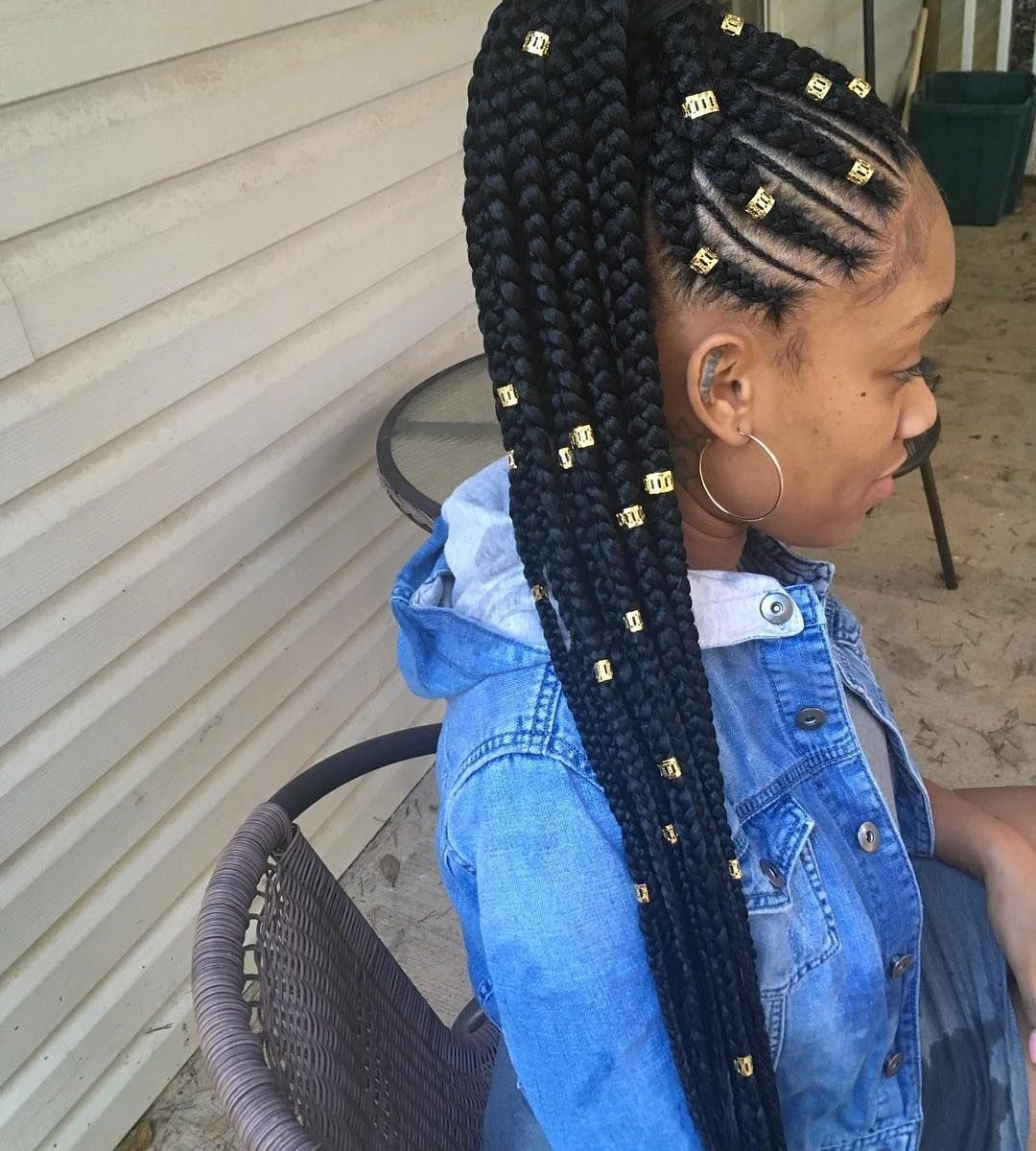 Cornrow Braidles To The Side With Bangs Styles For Short Hair For Favorite Cornrows Hairstyles With Braids (View 15 of 15)