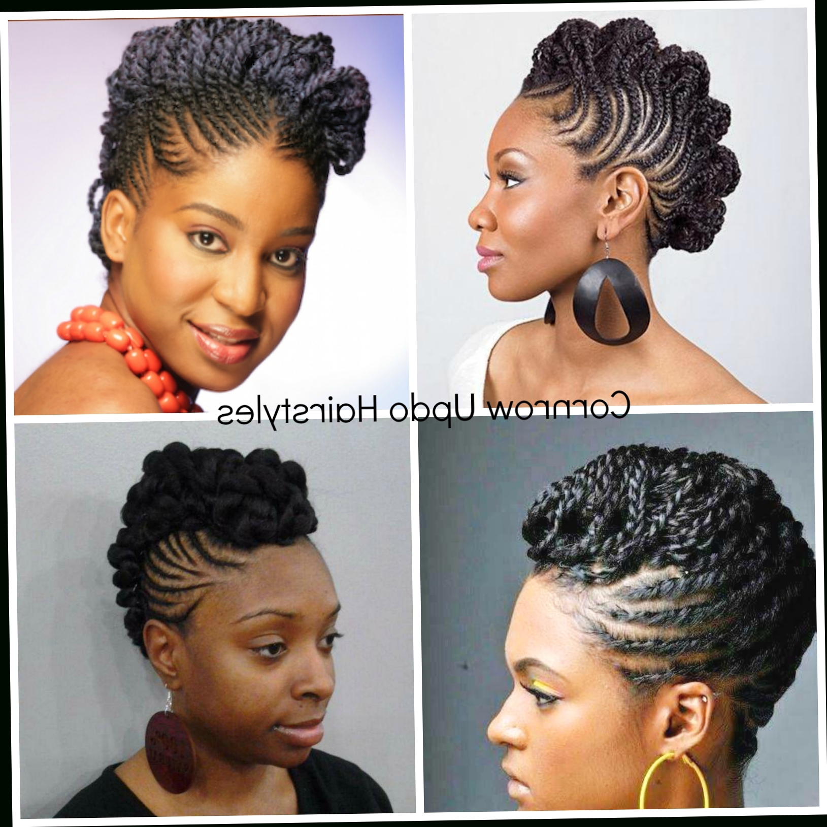 Cornrow Hairstyles With Kinky Hair Natural Hair Cornrow Updos One Inside 2017 Cornrow Hairstyles Up In One (View 9 of 15)