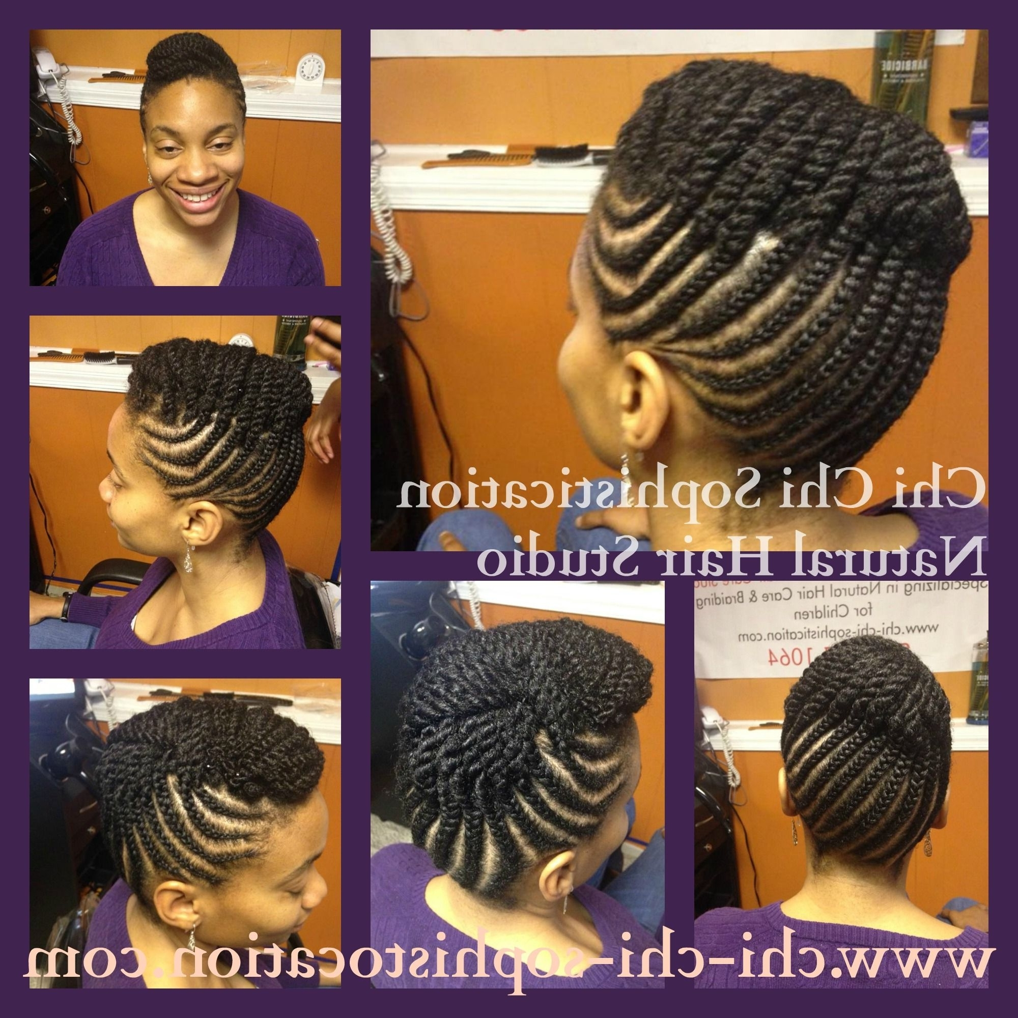 Cornrow Up Do For Adults (View 4 of 15)