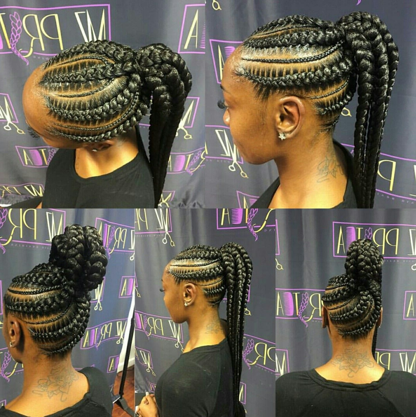 Cornrow Up Do (View 5 of 15)