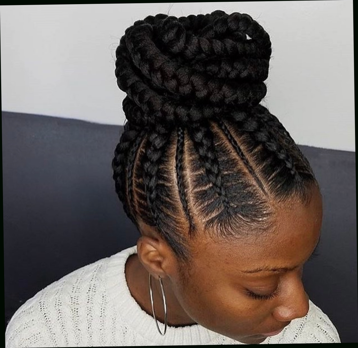 Cornrow Within Well Known Cornrows Bun Hairstyles (View 9 of 15)