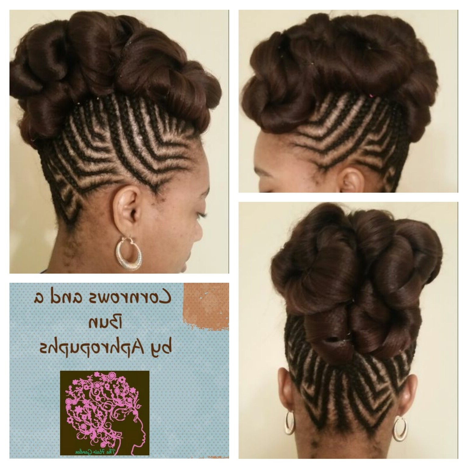 Cornrows And A Bun – The Hair Garden Nursery Regarding 2017 Cornrows Hairstyles In A Bun (View 6 of 15)